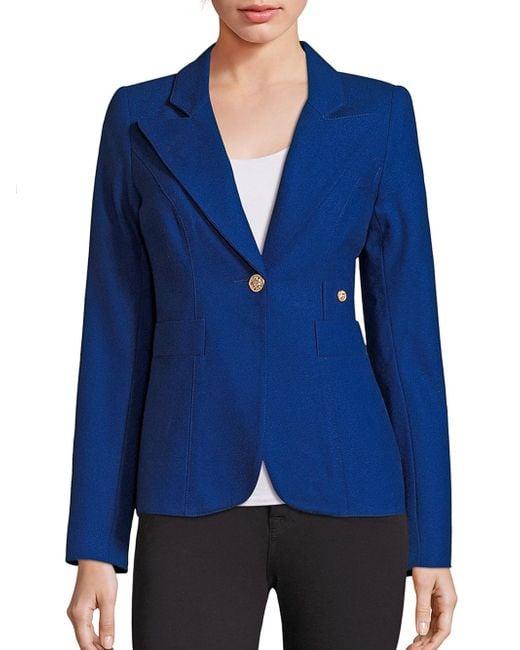 Smythe | Blue Duchess Wool Blend Blazer | Lyst