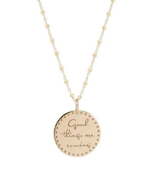 Zoe Chicco Metallic Mantras Good Things 14k Yellow Gold Necklace