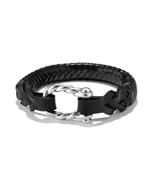 David Yurman - Black Maritime Woven Leather Bracelet - Lyst