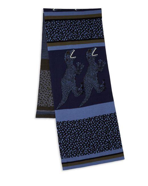 Paul Smith - Blue Dino Stripe Knit Scarf for Men - Lyst