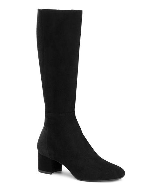 Aquatalia | Black Jules Stretch-suede Boots | Lyst