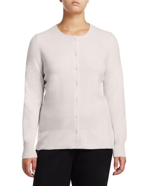 Saks Fifth Avenue - White Collection Cashmere Knitted Sweater - Lyst