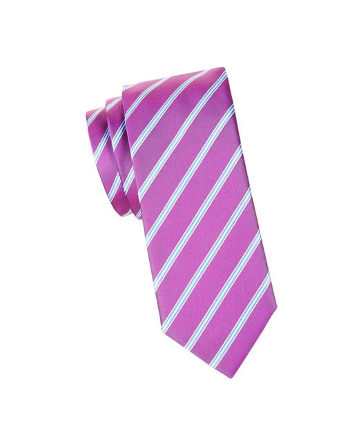 HUGO Blue Striped Silk Tie for men