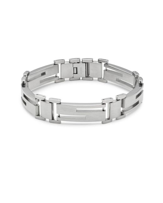Saks Fifth Avenue - Metallic Stainless Steel Links Bracelet - Lyst