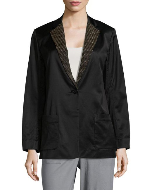 Marc By Marc Jacobs - Black Washed Satin Jacket - Lyst