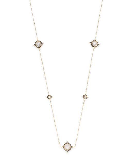 Freida Rothman | Metallic Pavé Crown Station Necklace | Lyst