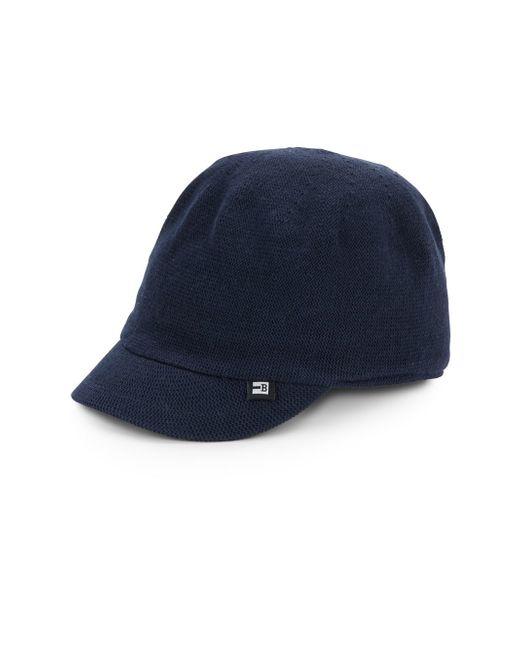 block headwear cotton knit baseball hat in blue for
