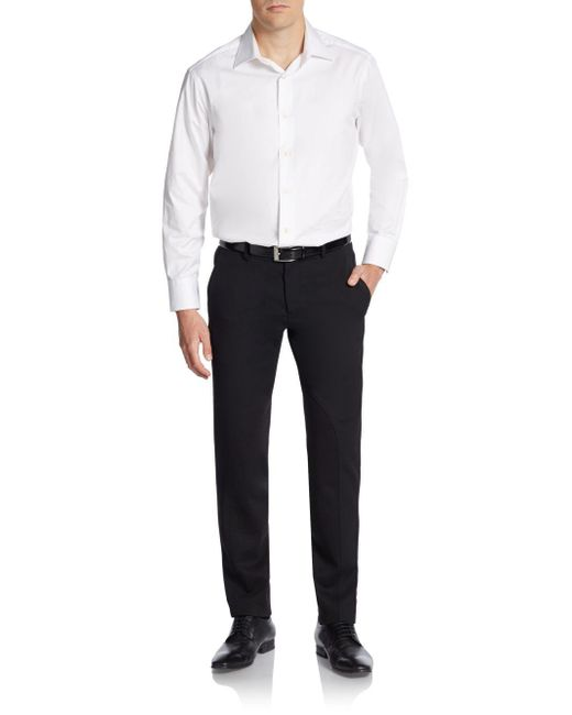 Versace | Black Wool-blend Trousers for Men | Lyst