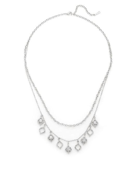 Adriana Orsini | Metallic Two-row Charm Necklace | Lyst