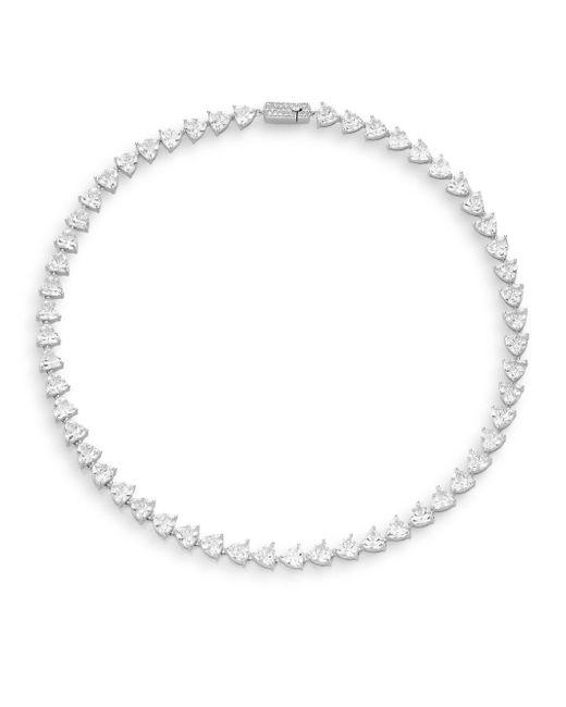 Adriana Orsini | Metallic Trillionaire White Stone Necklace | Lyst