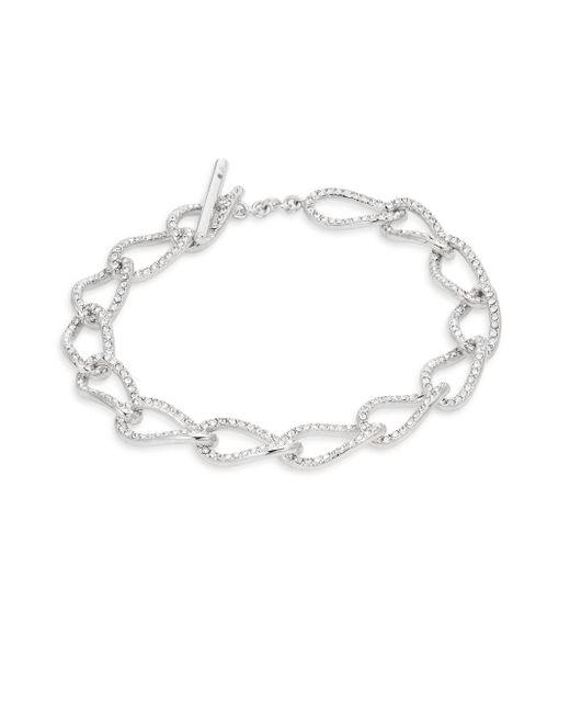 Adriana Orsini | Metallic Pavé Chain Bracelet | Lyst
