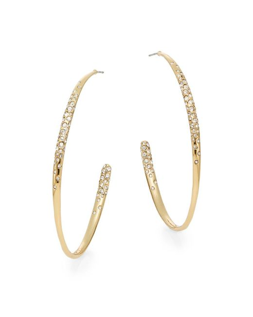 "Alexis Bittar | Metallic Miss Havisham Swarovski Crystal Hoop Earrings/2.5"" | Lyst"