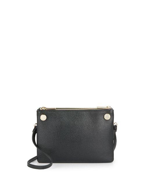 Furla   Black Lilli Mini Saffiano Leather Crossbody   Lyst