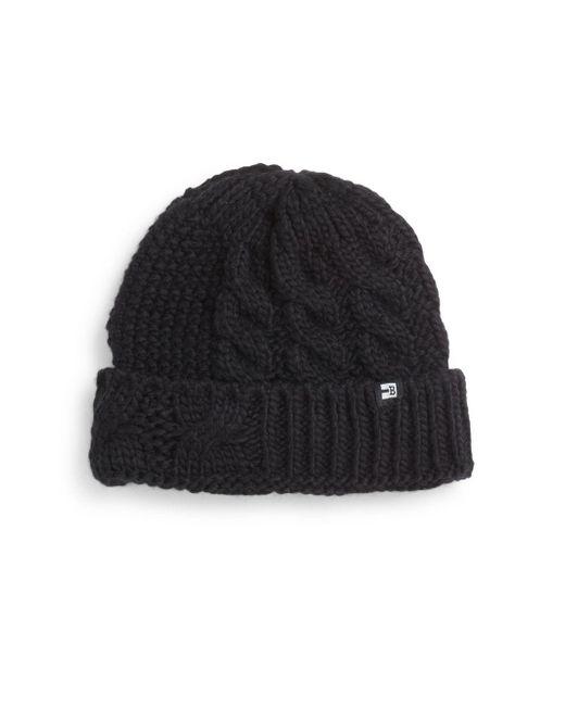 Block Headwear | Black Cable-knit Hat | Lyst