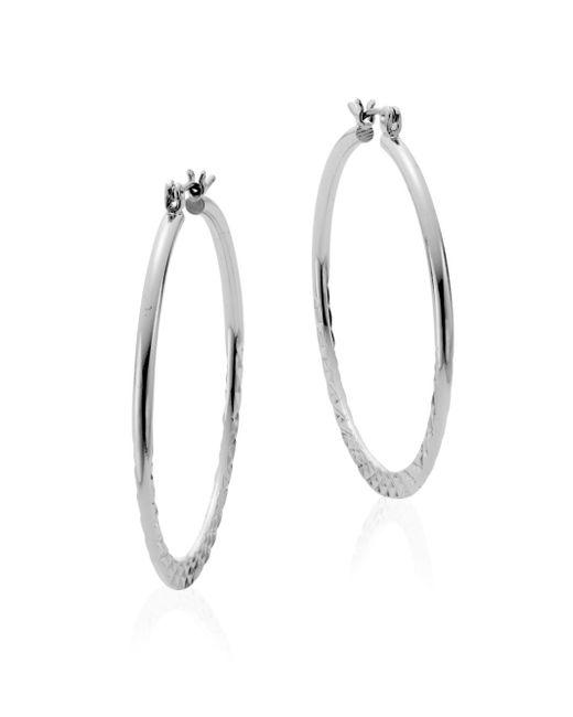 Saks Fifth Avenue | Metallic Pyramid Hoop Earrings/silvertone | Lyst
