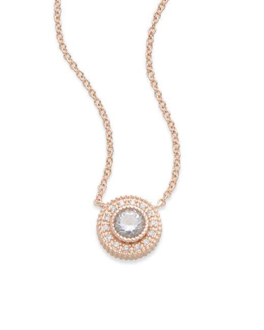 Freida Rothman | Pink Signature 14k Rose Gold Nautical Button Pendant Necklace | Lyst