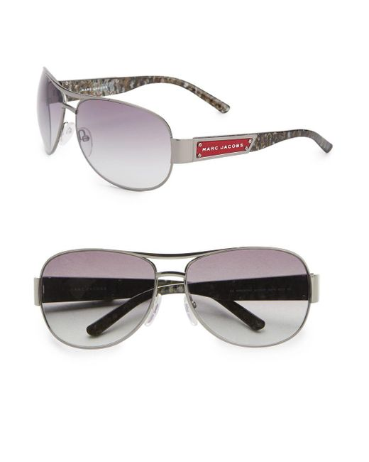 Marc Jacobs | Metallic 65mm Aviator Sunglasses | Lyst