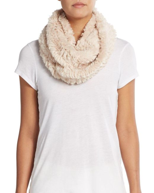 La Fiorentina | Natural Faux Fur Infinity Scarf | Lyst