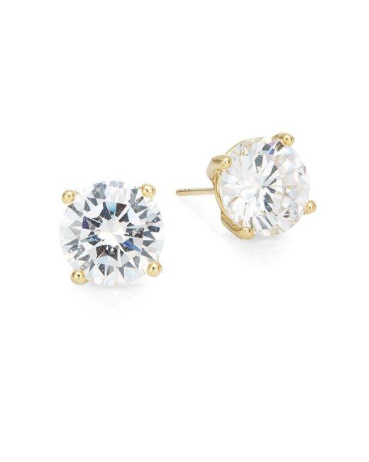 Saks Fifth Avenue   Metallic Round Stud Earrings/goldtone   Lyst