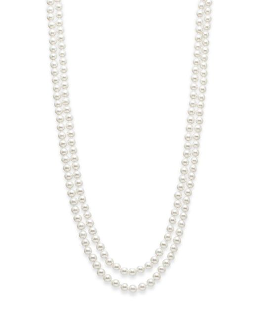 Saks Fifth Avenue | White 8mm Simulated Pearl Necklace/72"