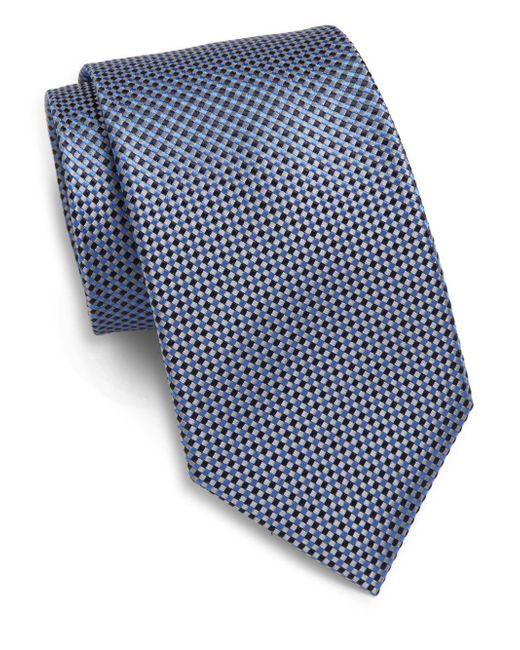 Saks Fifth Avenue | Blue Diamond Neat Silk Tie & Gift Box for Men | Lyst