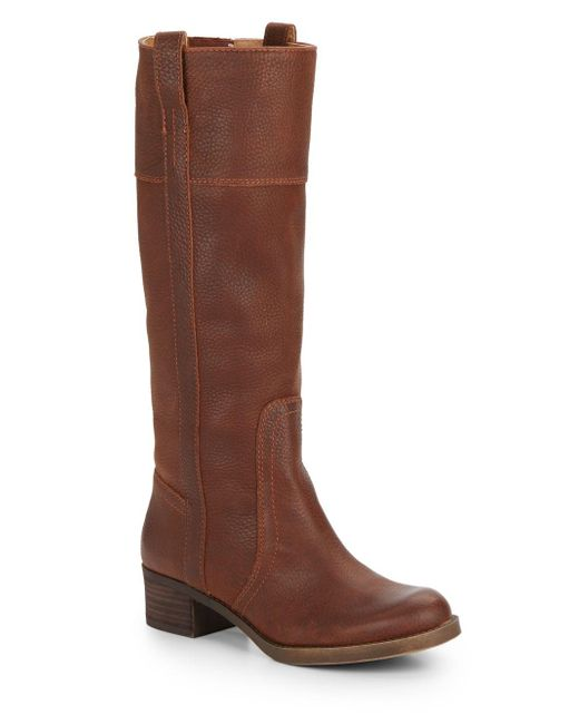 Lucky Brand | Brown Heloisse Leather Boots | Lyst