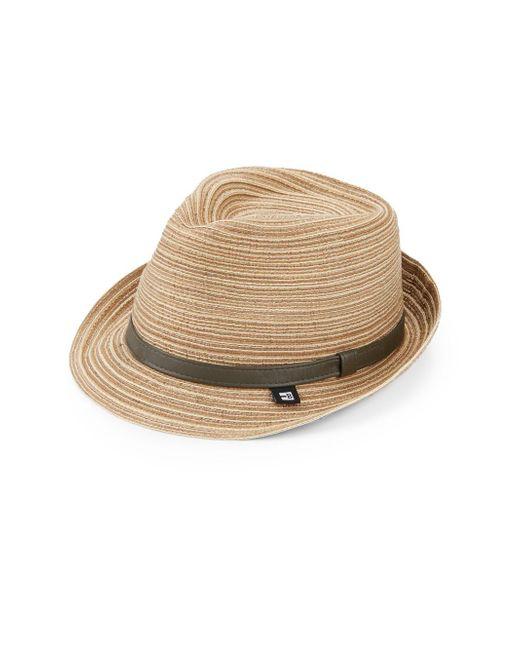 Block Headwear | Blue Braided Thread Large Brim Fedora for Men | Lyst
