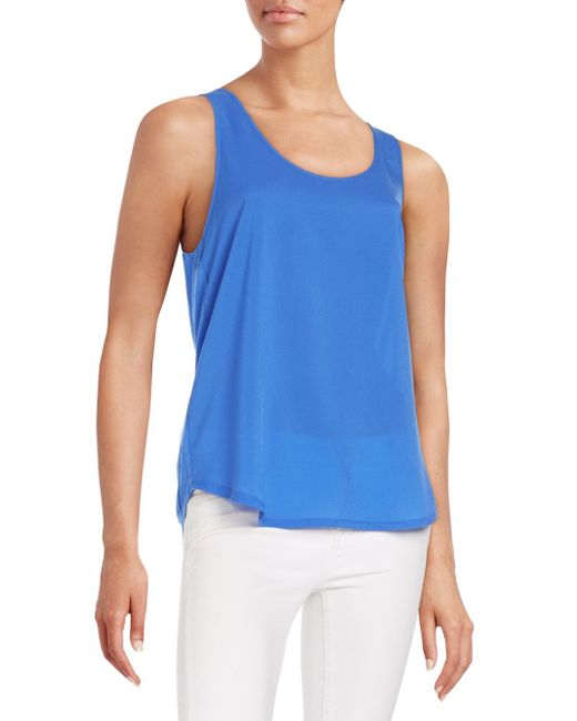 French Connection | Blue Polly Plains Tank Top | Lyst