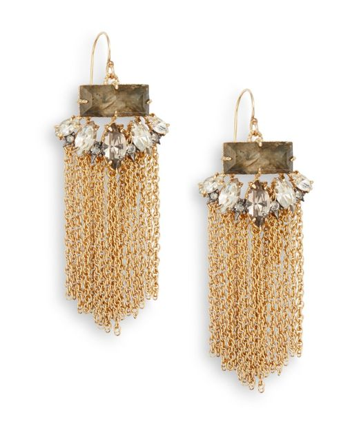 Alexis Bittar | Metallic Elements Swarovski Crystal Baguette Chandelier Earrings | Lyst