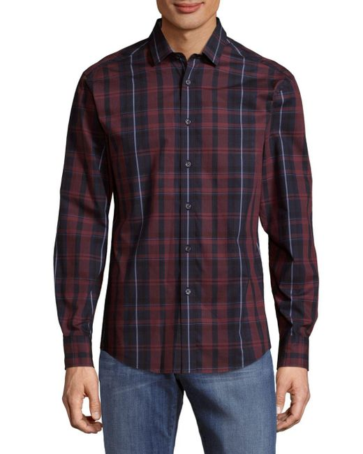 Vince Camuto   Purple Two-toned Button-down Shirt for Men   Lyst