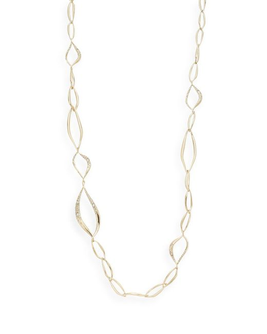 Alexis Bittar | Metallic Miss Havisham Jagged Crystal Long Liquid Link Necklace | Lyst