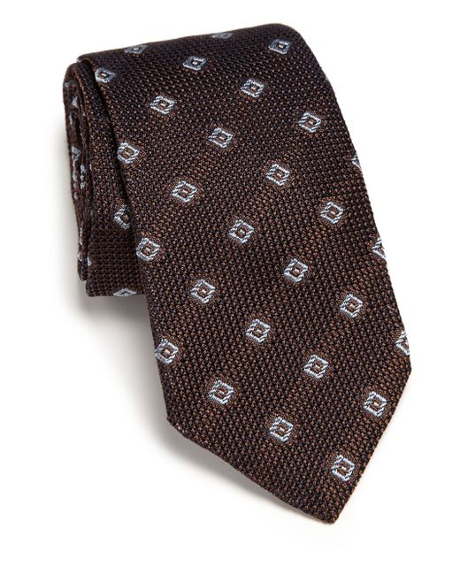 Ike Behar | Brown Grenadine Silk Tie for Men | Lyst