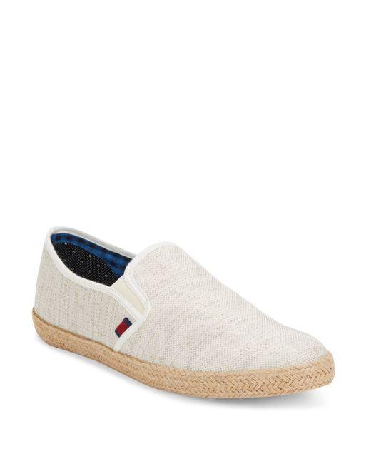 Ben Sherman Jenson Canvas Espadrille Slip On Sneakers In