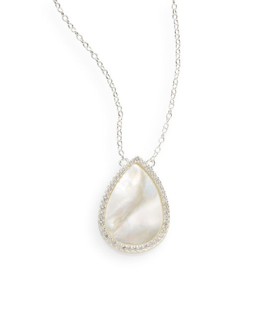 Argento Vivo Mother Of Pearl White Stone Amp Sterling
