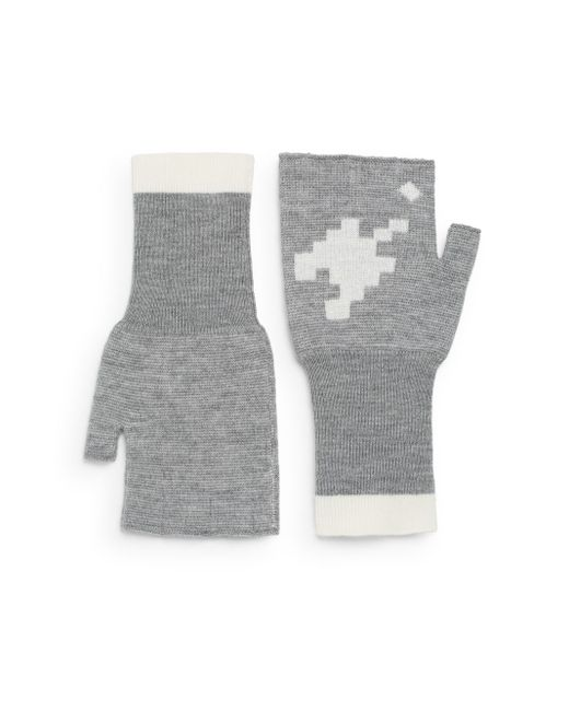 Band of Outsiders | Gray Fingerless Wool Gloves | Lyst
