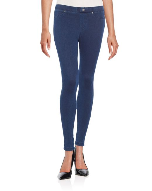 Hue Lace-up Back Leggings in Blue   Lyst