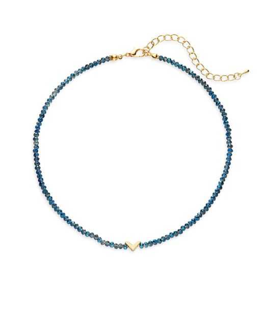 Cara | Blue Druzy Pendant Necklace- 36 In | Lyst