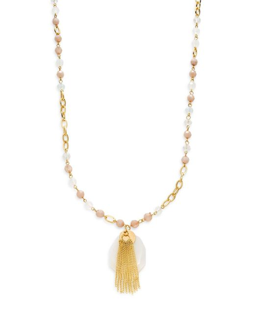 saks fifth avenue beaded pendant necklace in gold save