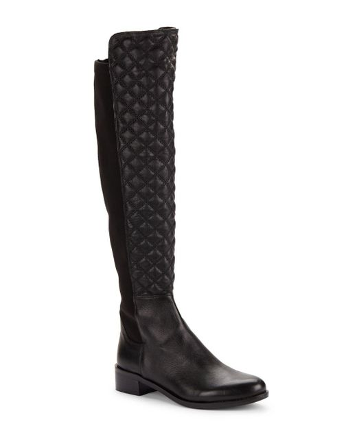 Vince Camuto | Black Justina Quilted Leather Boots | Lyst