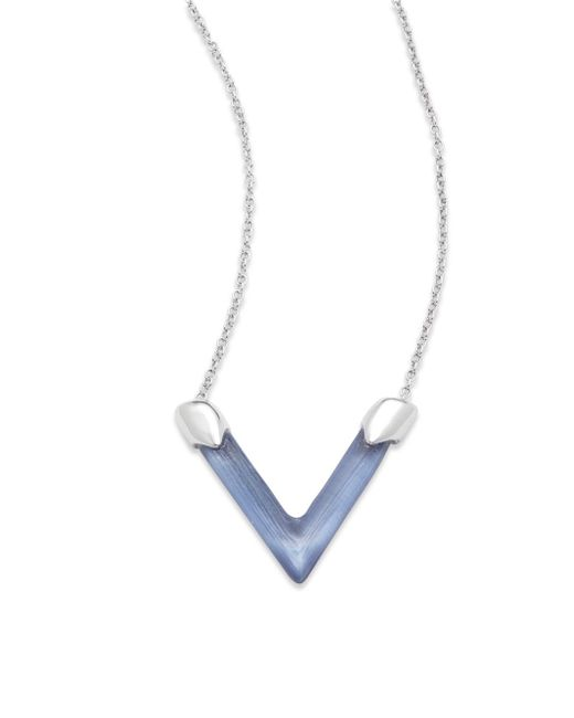 Alexis Bittar | Blue Studded Lucite Chain | Lyst