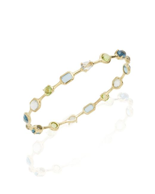 Ippolita | Metallic Rock Candy Multi-stone & 18k Yellow Gold Bangle Bracelet | Lyst
