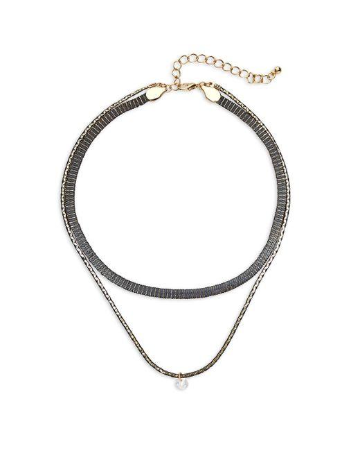 Gemma Simone | Metallic Two-tier Necklace | Lyst