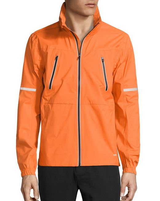 Revo | Orange Detachable Hood Jacket for Men | Lyst