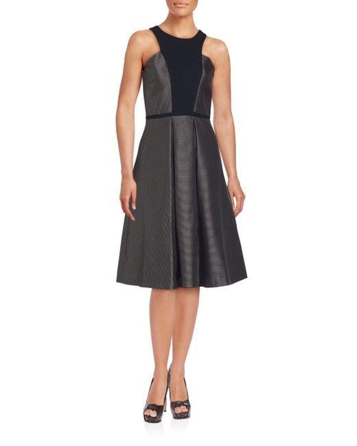Nha Khanh | Black Textured A-line Dress | Lyst