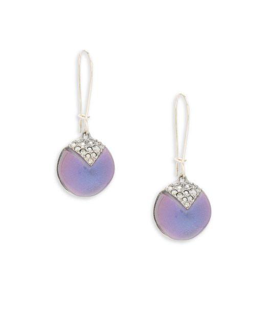 Alexis Bittar | Multicolor Lucite Origami Swarovski Crystal Drop Earrings | Lyst