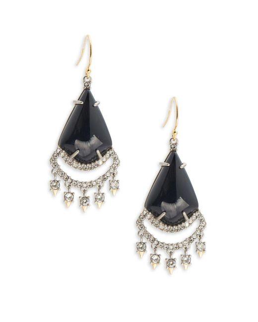 Alexis Bittar   Black Lace Chandelier Drop Earrings   Lyst