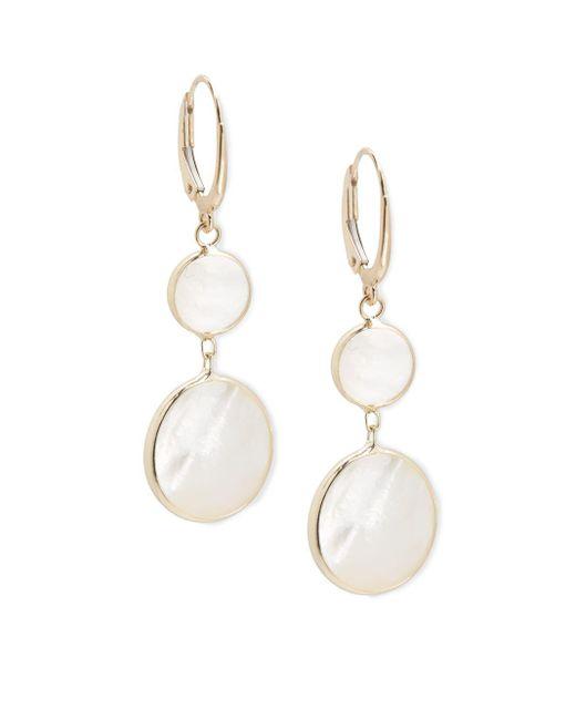 Saks Fifth Avenue | Metallic 14k Gold Snowman Drop Pendant Earrings | Lyst