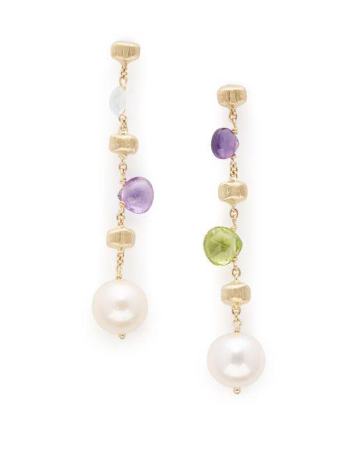 Marco Bicego | Yellow 7mm Pearl Topaz Amethyst Peridot Drop Earrings | Lyst