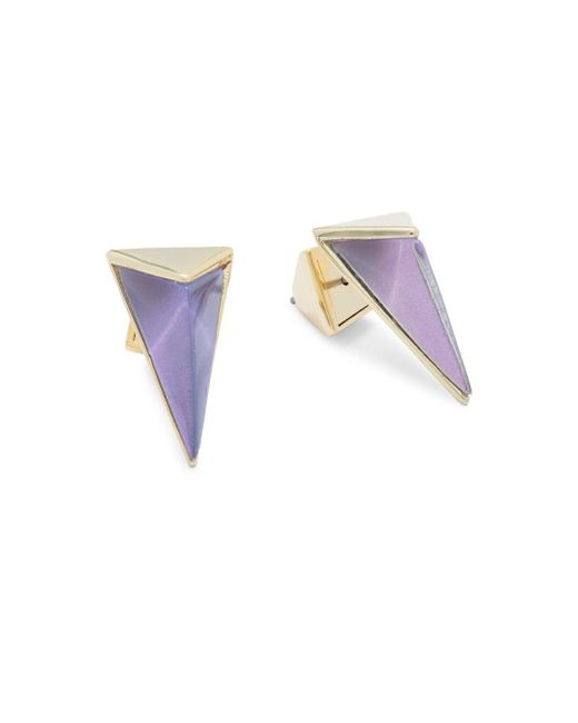 Alexis Bittar | Multicolor Lucite 10k Gold-plated Stud Earrings | Lyst