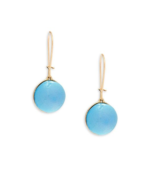 Alexis Bittar | Blue Lucite & 10k Gold-plated Drop Earrings | Lyst